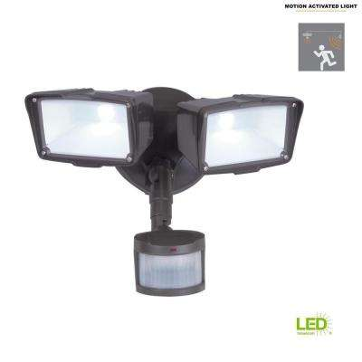 270-Degree Bronze Motion Activated Sensor Outdoor Integrated LED Security Flood Light