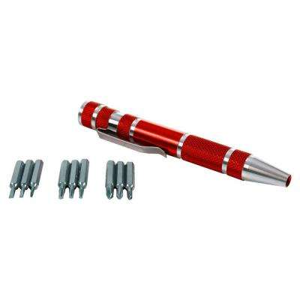4.5 in. Aluminum 9-in-1 Precision Pen Screwdriver Set