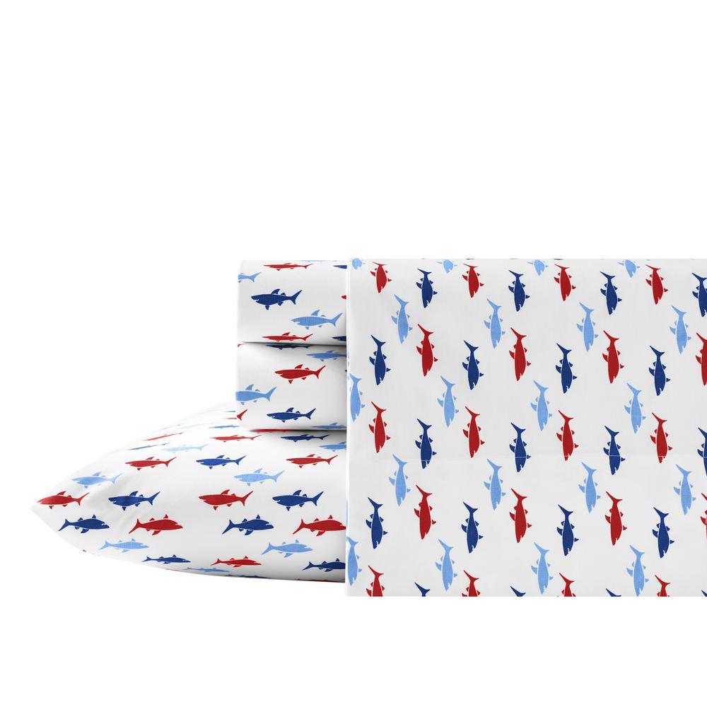 Costazul Blue 3-Piece Twin XL Sheet Set