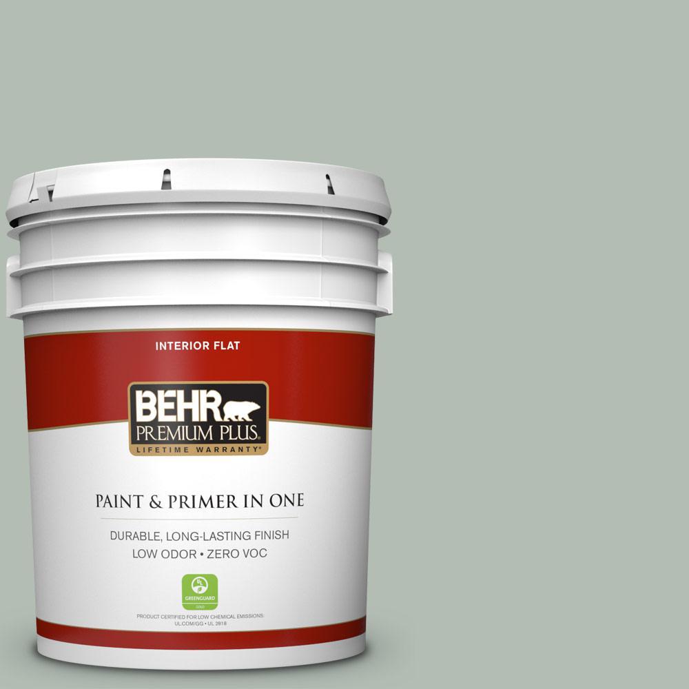BEHR Premium Plus 5-gal. #N400-3 Flagstaff Green Flat Interior Paint