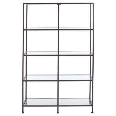 Bella Aged 40 in. Wide Bronze Glass Bookcase