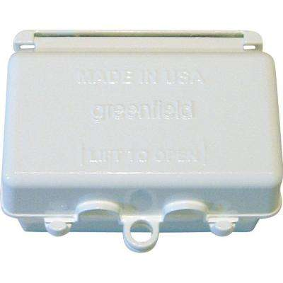 While-In-Use Weatherproof Electrical Box Cover Horizontal - White