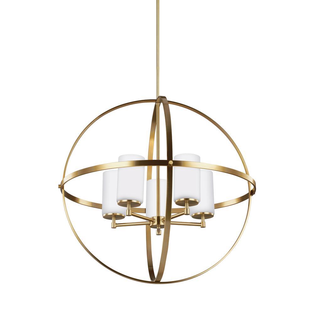 Alturas 5-Light Satin Bronze Chandelier with LED Bulbs