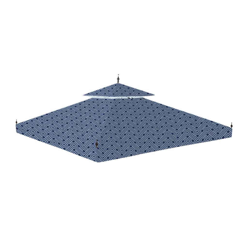 Garden Winds Standard 350 Midnight Trellis Replacement Canopy for 10 ft. x 10 ft. Arrow Gazebo
