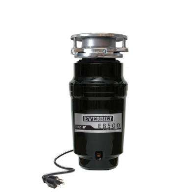 1/2 HP Standard Continuous Feed Garbage Disposal with Attached Power Cord
