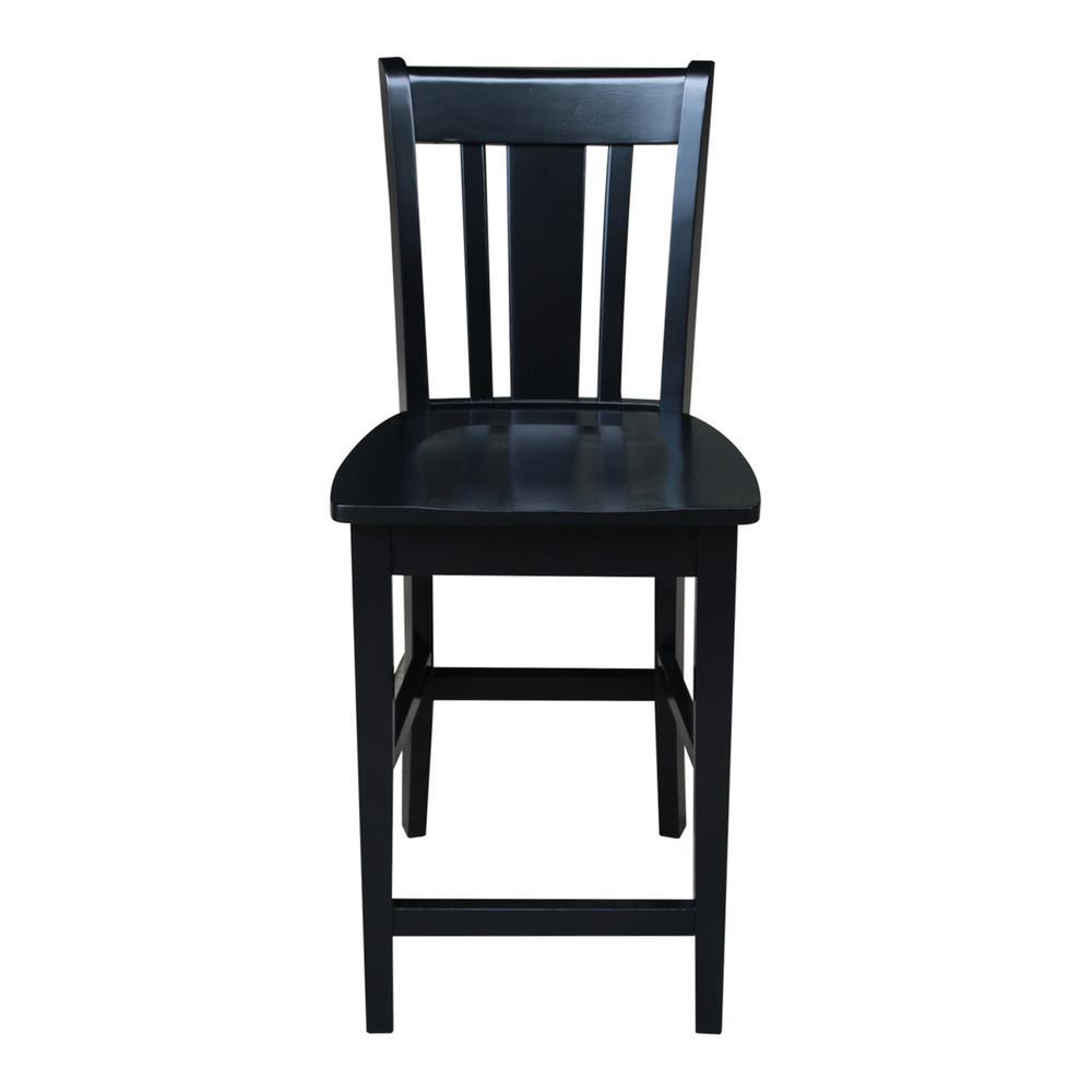Astounding International Concepts San Remo 24 In Black Bar Stool S46 Ibusinesslaw Wood Chair Design Ideas Ibusinesslaworg