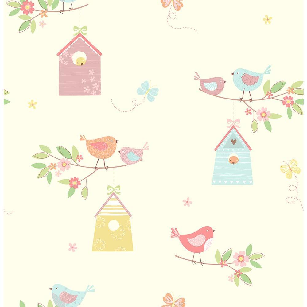 Turquoise Birdhouses Wallpaper