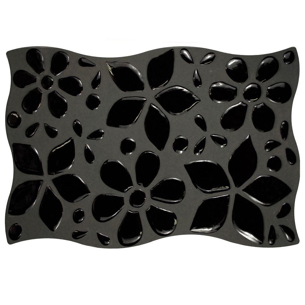Merola Tile Natura Black 8 in. x 12 in. Ceramic Wall Tile