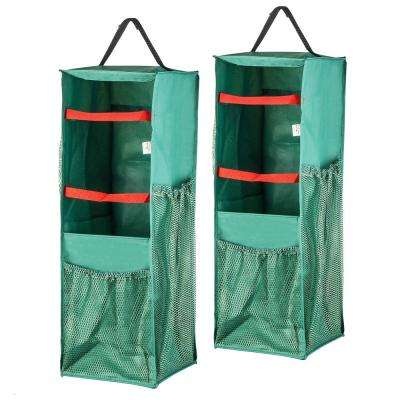 4-Sided Hanging Gift Wrap and Bag Organizer (2-Pack)