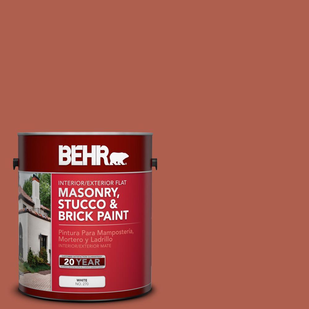1 gal. #BIC-46 Clay Red Flat Interior/Exterior Masonry, Stucco and Brick Paint