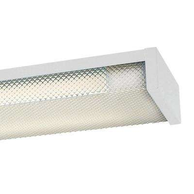 4 ft. x 5 in. 2-Light White LED Slim Flushmount MV Wraparound Light with T8 LED 5000K Tubes