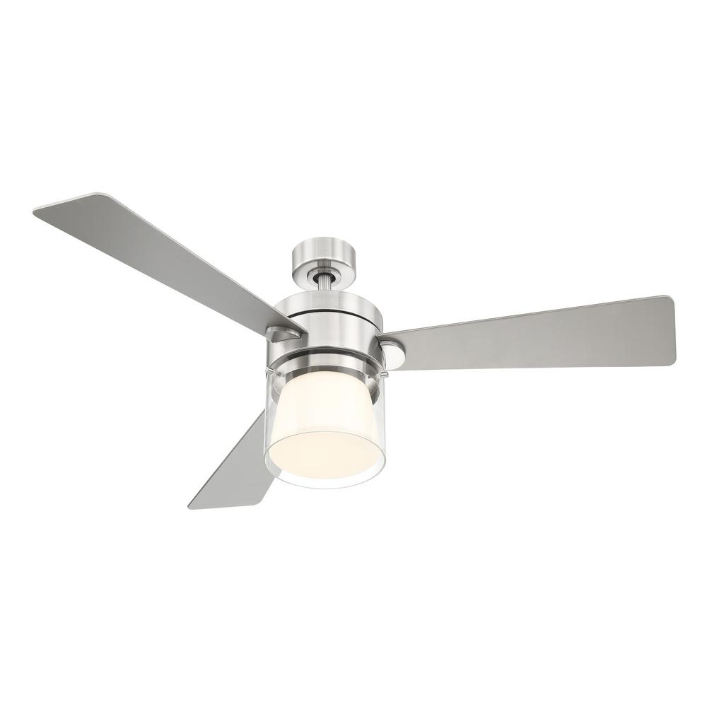 A8102 A C Ceiling Light: Eglo Casou 52 In. LED Integrated Light 3 Blade Brushed