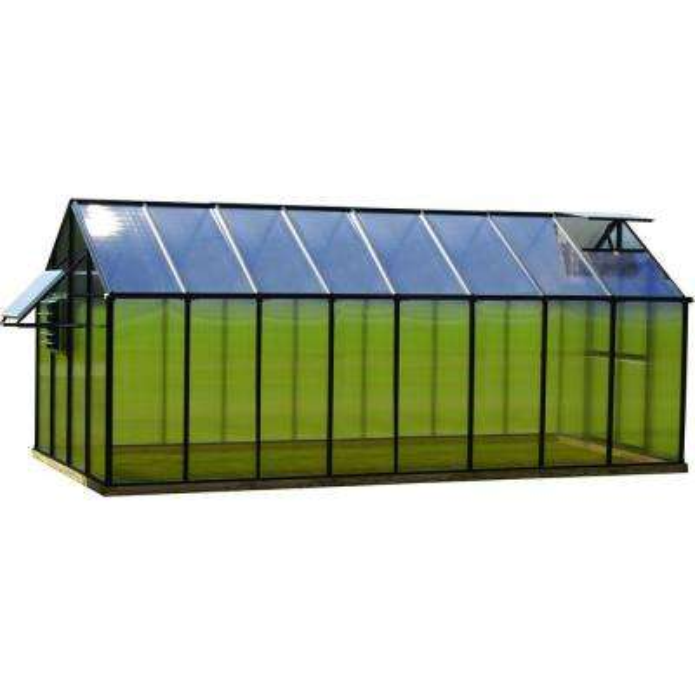 8 ft. x 16 ft. Black Mojave Greenhouse