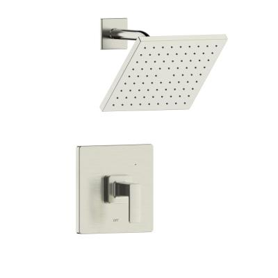 Htel de Ville Single Handle 1-Spray Square Shower Faucet with Rough-In Valve in Brushed Nickel