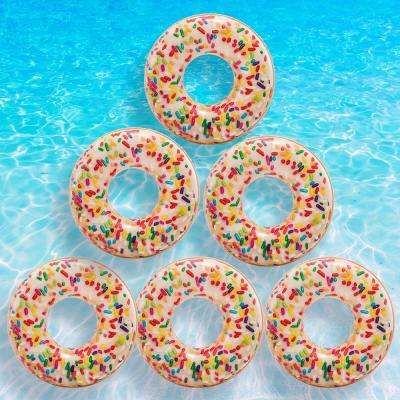 Sprinkle Donut Tube Pool Float (6-Pack)