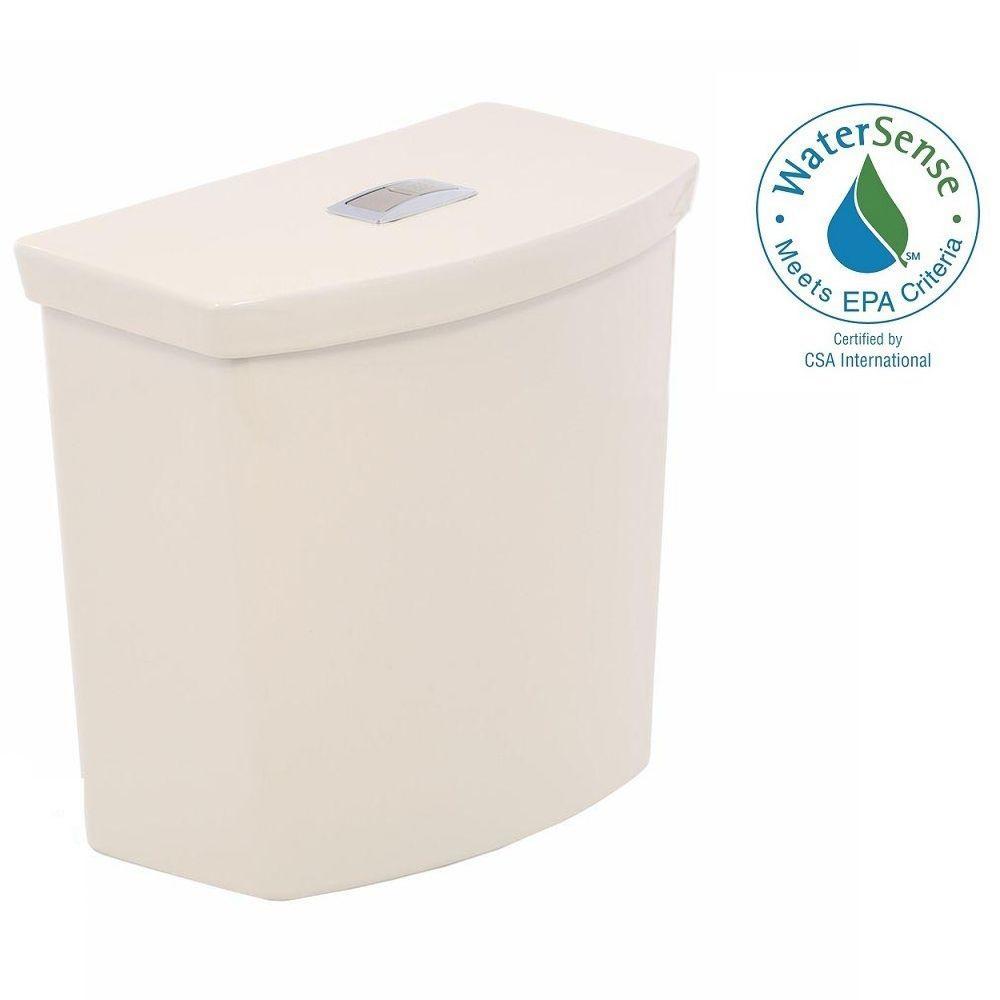American Standard H2Option 1.0/1.6 GPF Dual Flush Toilet Tank Only in Bone