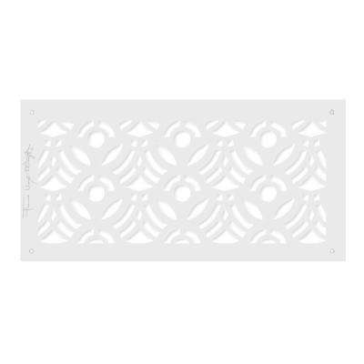 Frank Lloyd Wright Collection 6 in. x 14 in. April Flowers Grille Aluminum in White-Matte