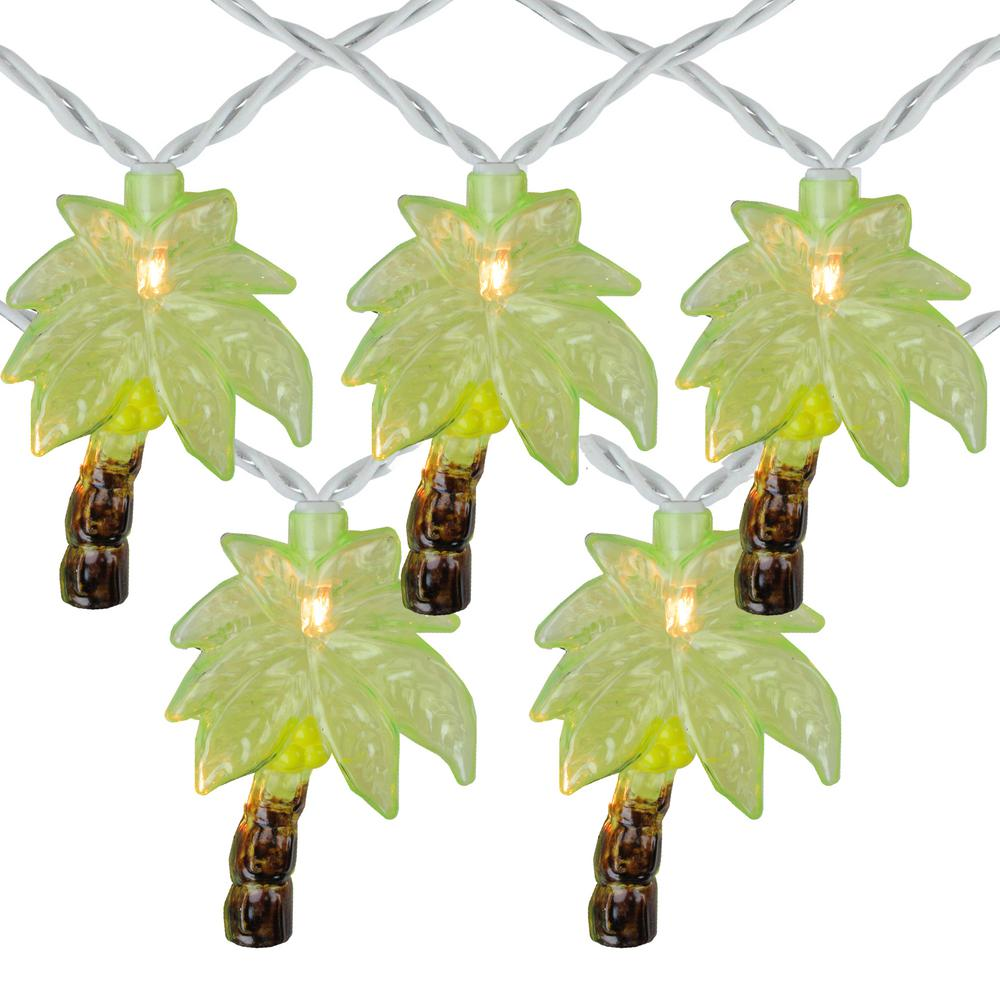 Christmas Lights Palm Trees: Northlight Set Of 10 Clear Incandescent Light Tropical