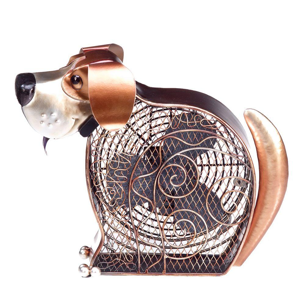 Deco Breeze 7 in. Figurine Fan-Doggie