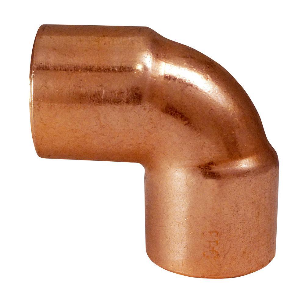 1/2 in. x 1/2 in. Copper 90-Degree Sweat x Sweat Elbow (50-Pack)