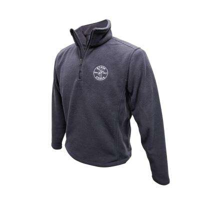 Unisex Size Medium Gray Polyester Fleece Pullover