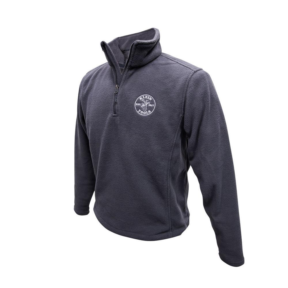 Unisex Size XXXL Gray Polyester Fleece Pullover