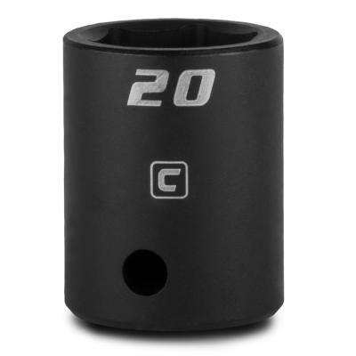 1/2 in. Drive 20 mm 6-Point Metric Shallow Impact Socket