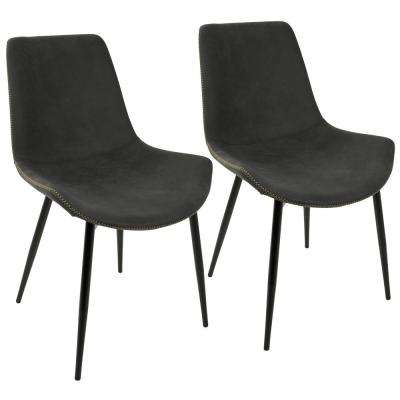 Duke Black and Grey Dining Chair (Set of 2)