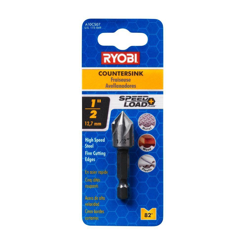 Ryobi SpeedLoad+ 1/2 in. High-Speed Steel Countersink