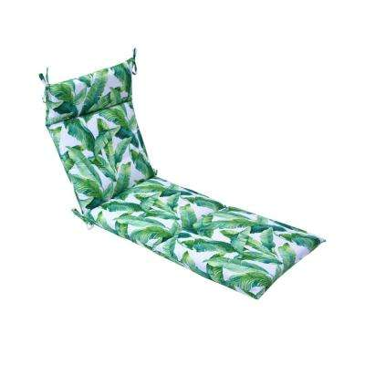 21.5 in. x 72 in. Hanalei Outdoor Chaise Lounge Cushion