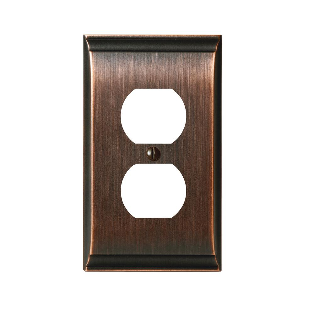 Amerock Candler 1 Duplex Outlet Wall Plate Oil Rubbed Bronze