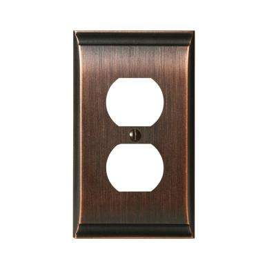 Candler 1-Duplex Outlet Wall Plate, Oil-Rubbed Bronze