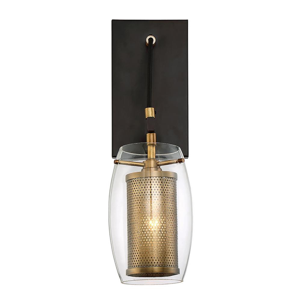 1-Light Warm Brass Sconce