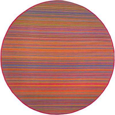 Cancun - Indoor/ Outdoor Multicolor (8 ft. Round) - Area Rug