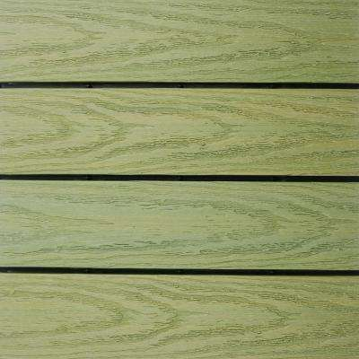 UltraShield Naturale 1 ft. x 1 ft. Quick Deck Outdoor Composite Deck Tile Sample in Irish Green