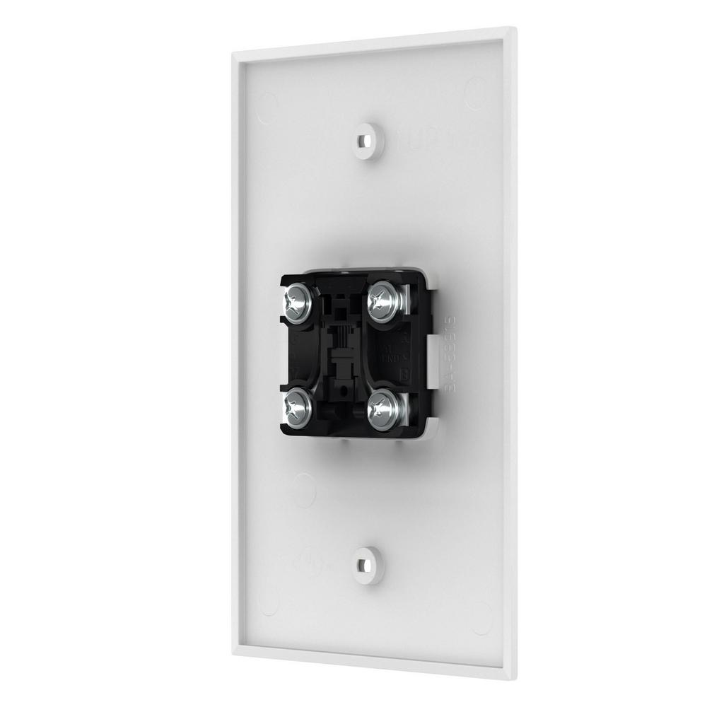 Leviton White 1-Gang Phone Jack Wall Plate (1-Pack)-R72-40539-PMW - The  Home DepotThe Home Depot