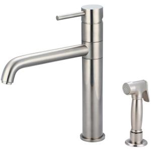 Motegi Single-Handle Standard Kitchen Faucet in Brushed Nickel