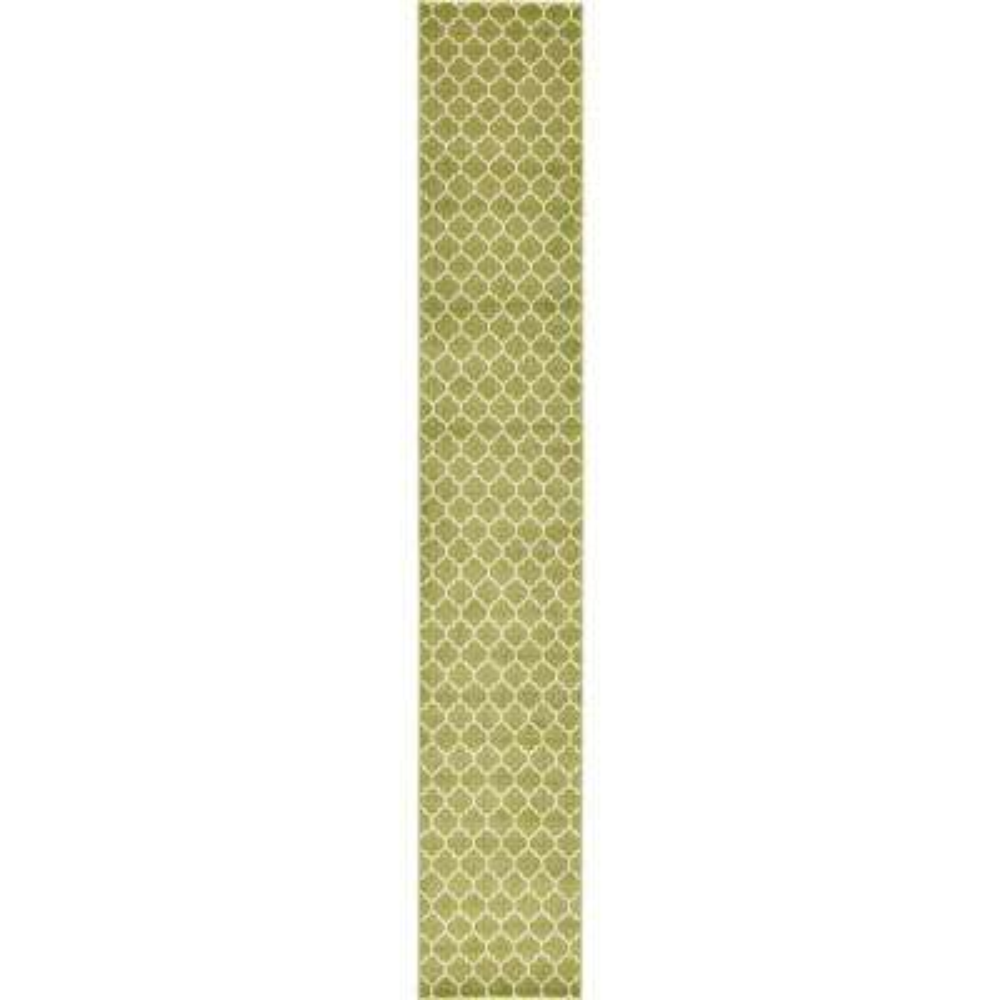 Trellis Philadelphia Light Green/Beige 2' 7 x 16' 5 Runner Rug