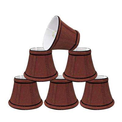 5 in. x 4 in. Rust and Black Accent Bell Lamp Shade (6-Pack)