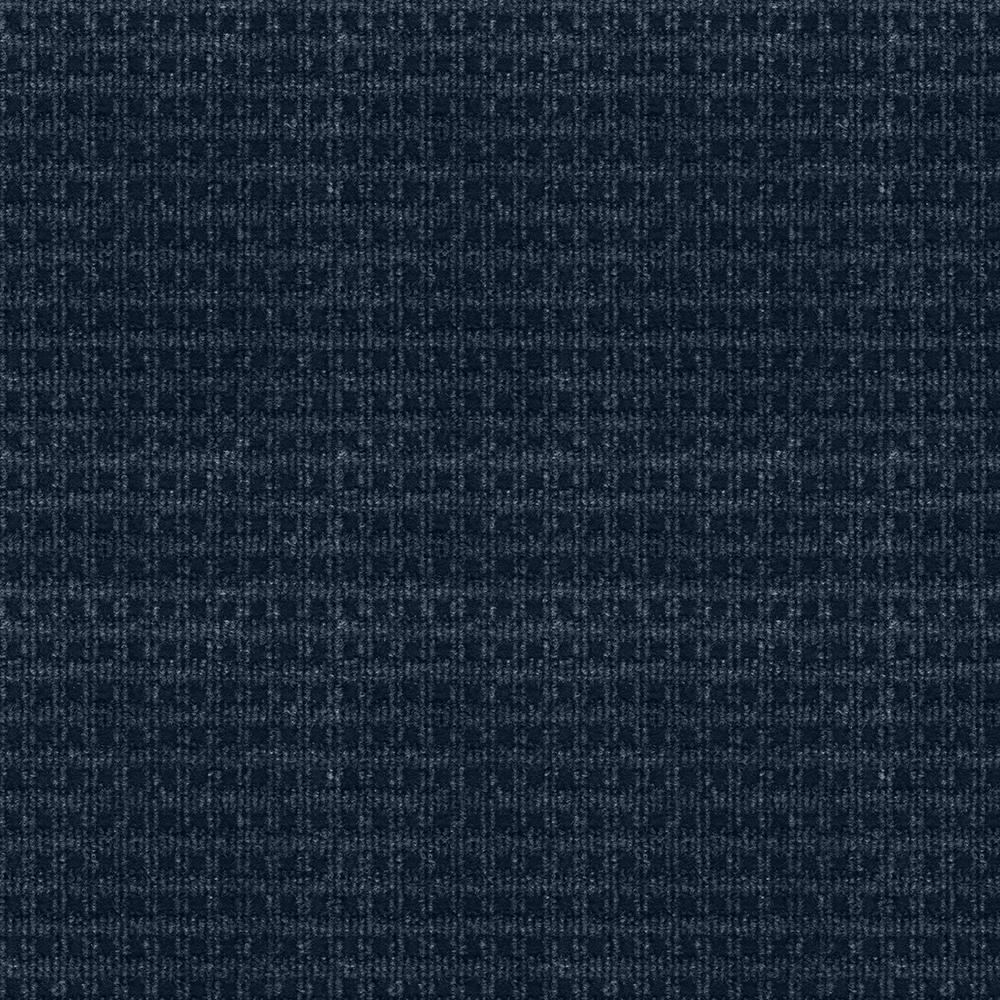 Serenity - Color Ocean Blue Pattern Indoor/Outdoor 12 ft. Carpet