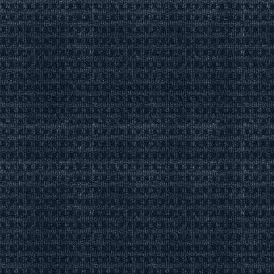 Serenity - Color Ocean Blue Pattern Indoor/Outdoor 12 ft. Carpet