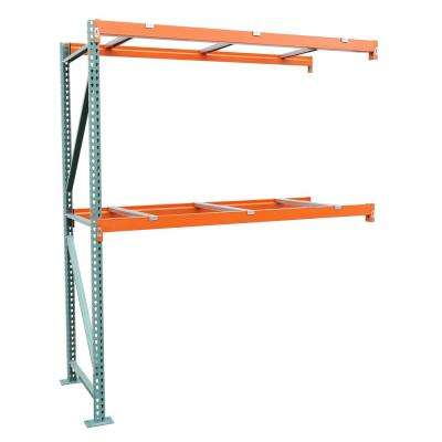 42 in. D x 108 in. W x 120 in. H Steel Heavy Duty 2-tier with Steel Supports Pallet Rack Add-On Unit