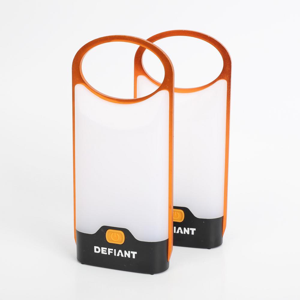 150 Lumens LED Ultra-thin Lantern in Orange (2-Pack)