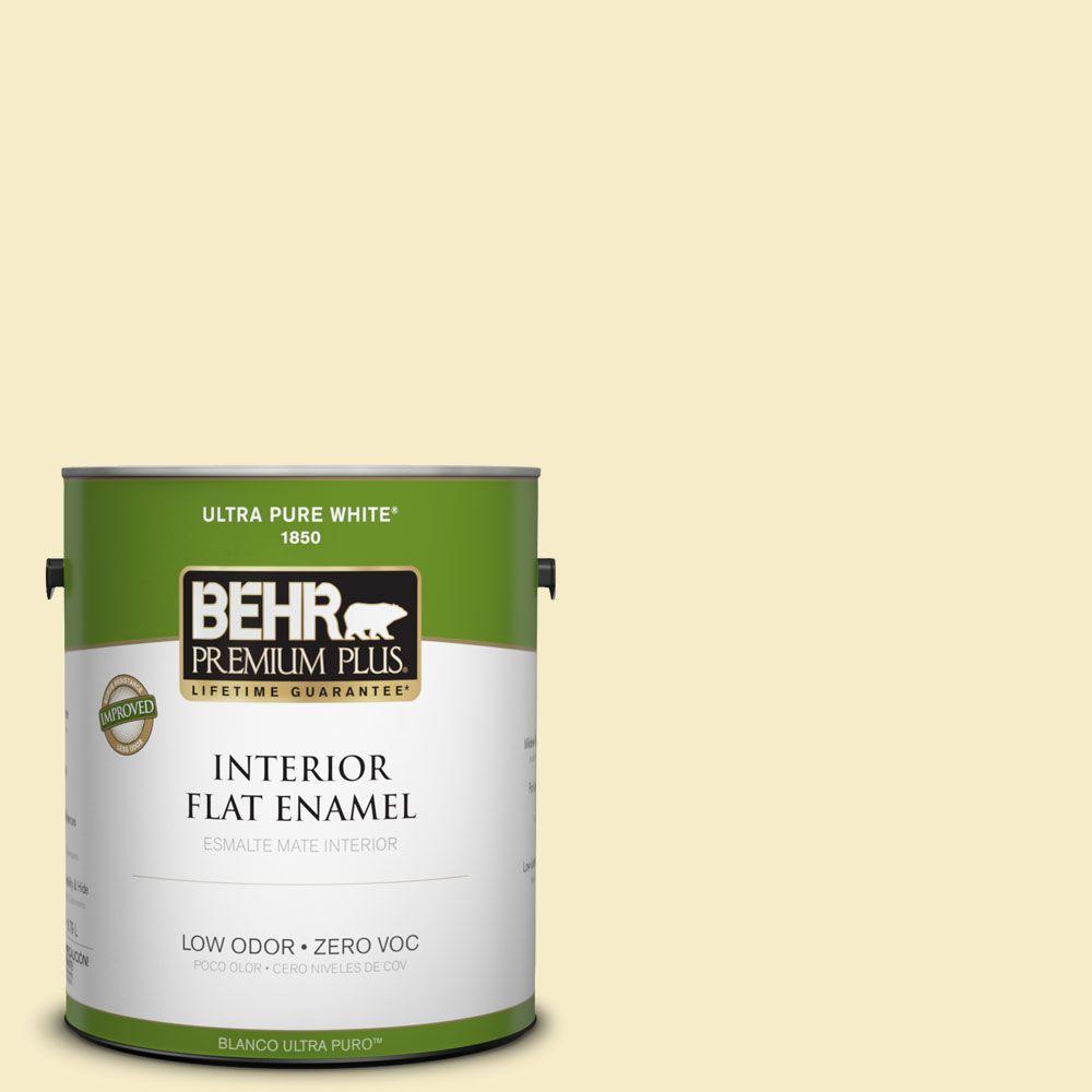 BEHR Premium Plus 1-gal. #390C-2 Garlic Clove Zero VOC Flat Enamel Interior Paint-DISCONTINUED