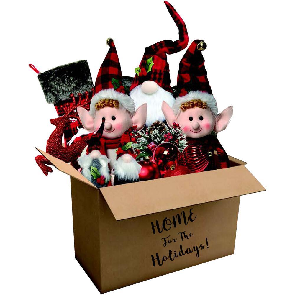 Christmas Woodland Plaid Ornament and Decor Set (164-Pack)