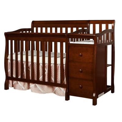 Jayden Espresso 4-in-1 Mini Convertible Crib and Changer