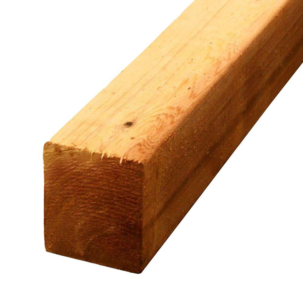 4 in  x 4 in  x 8 ft  Premium S4S Cedar Lumber-264784 - The