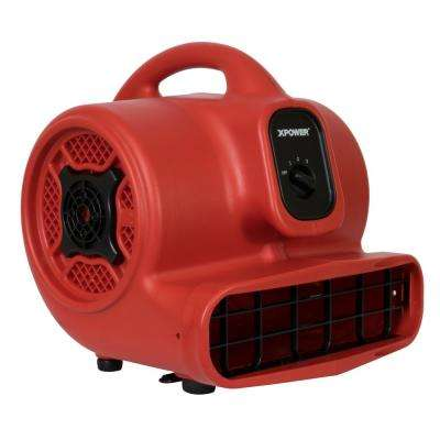 X-400 1/4 HP 1600 CFM 3-Speed Air Mover Carpet Dryer Floor Fan Blower