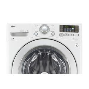 white lg electronics front load washers wm3270cw 40_300 lg electronics 4 5 cu ft high efficiency front load washer in LG True Balance Not Draining at gsmportal.co