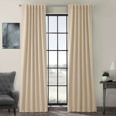 Semi-Opaque Egg Nog Ivory Blackout Curtain - 50 in. W x 96 in. L (Panel)